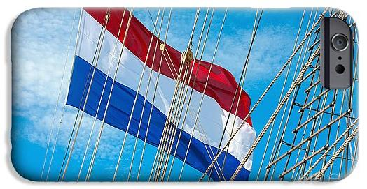 Dutch Flag On Tall Ship Phone