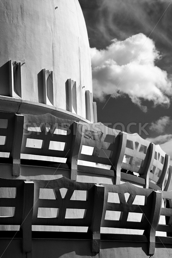 Stupa side view - Jan Brons Stock Images