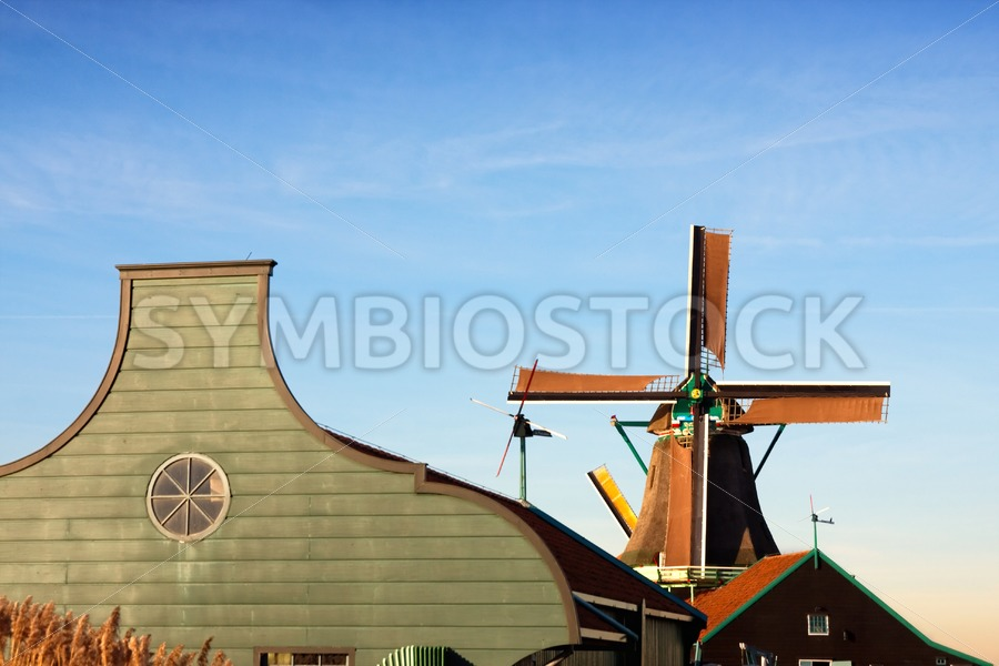 Windmill barn - Jan Brons Stock Images