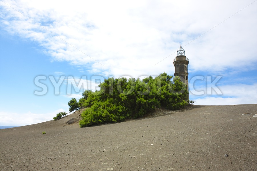 Lava landscape lighthouse - Jan Brons Stock Images