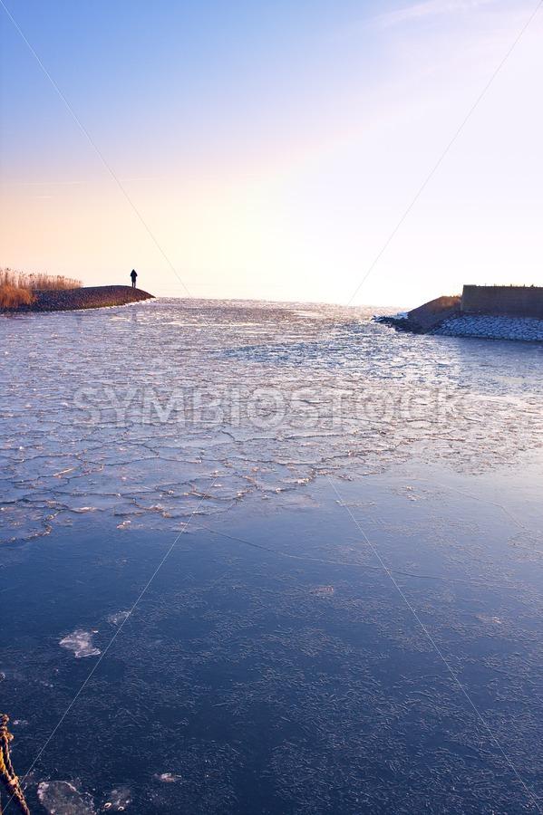 Frozen Harbour - Jan Brons Stock Images