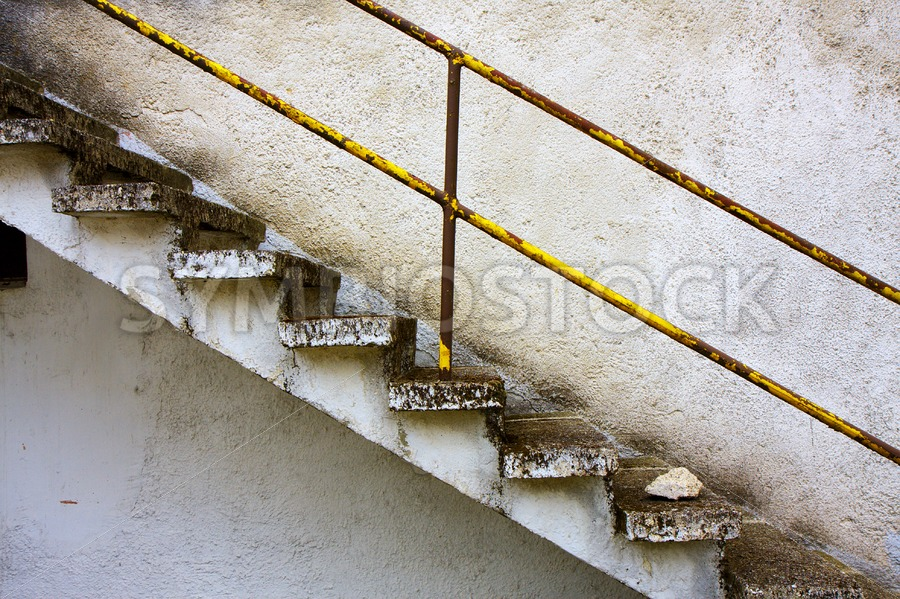Concrete stair grunge wall - Jan Brons Stock Images