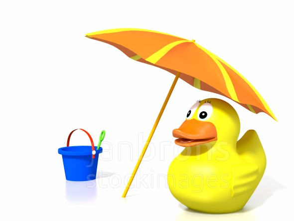Stock Image: Rubber Duck At The Beach