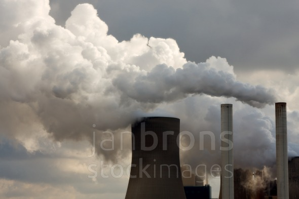 Coal power station blasting away