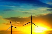Wadden Sea - Stock Image: Wind And Sun Energy