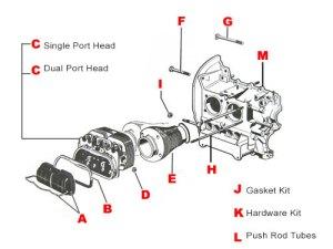 VW Engine Parts, 1300CC  1600CC EnginesJBugs