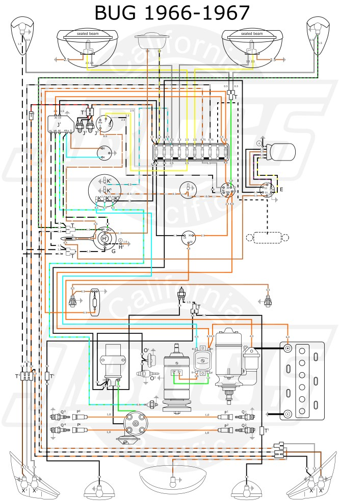 vw bug turn signal wiring diagram vw wiring diagrams