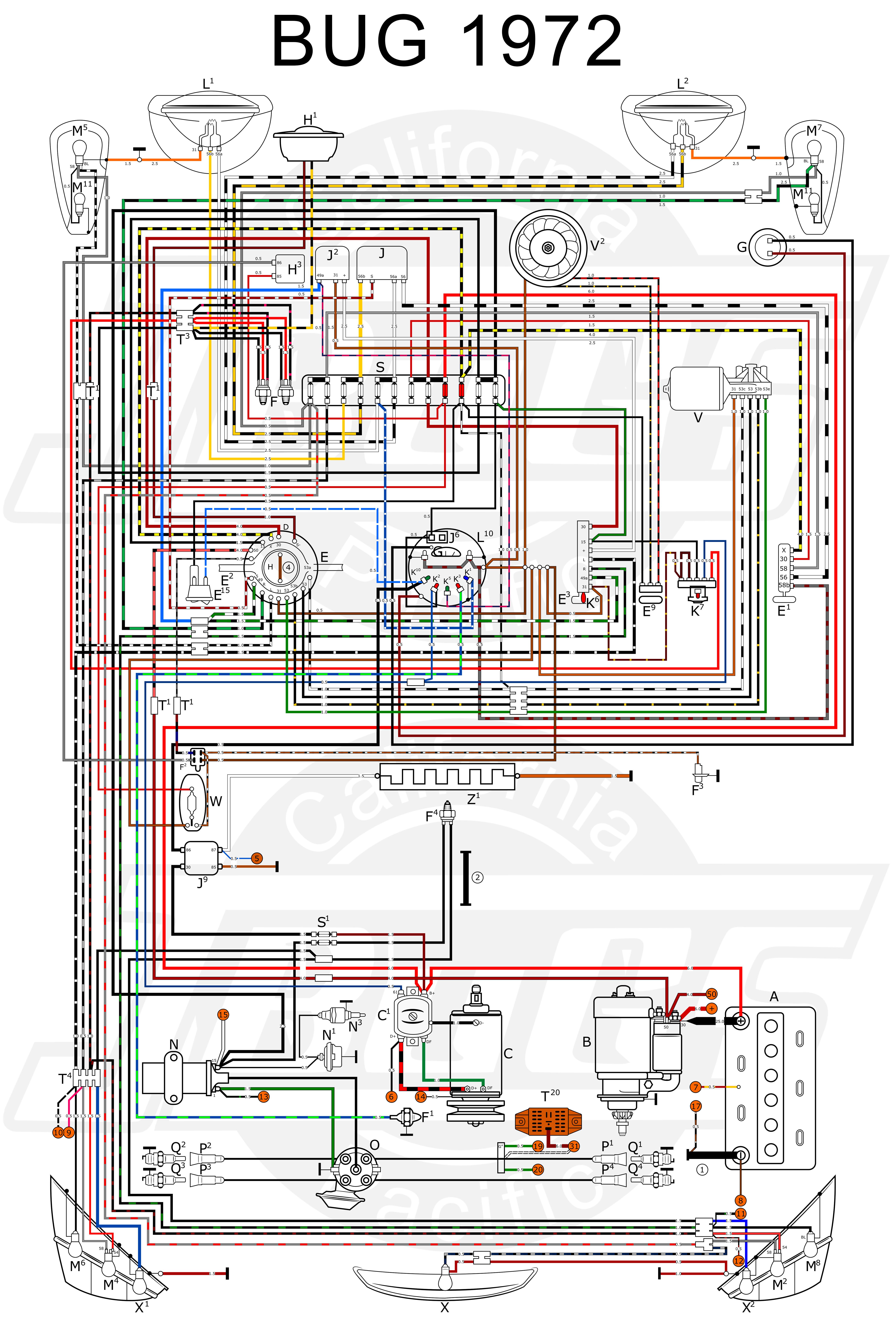 74 Super Beetle Wiring Diagram - Roslonek.net