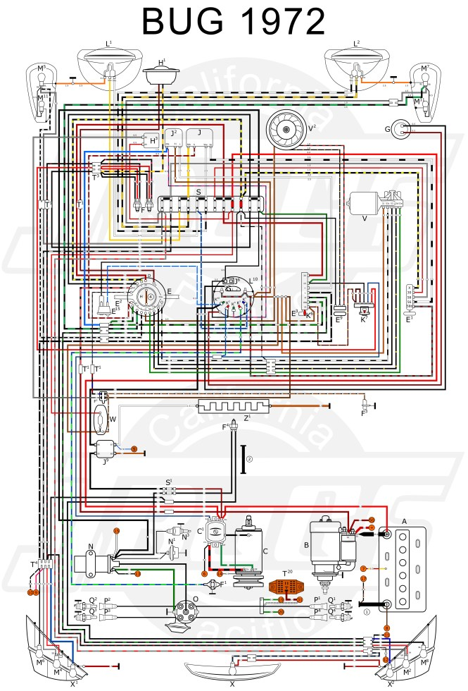 1972 vw beetle wiring schematic wiring diagram 1970 vw bug wiring schematic image about