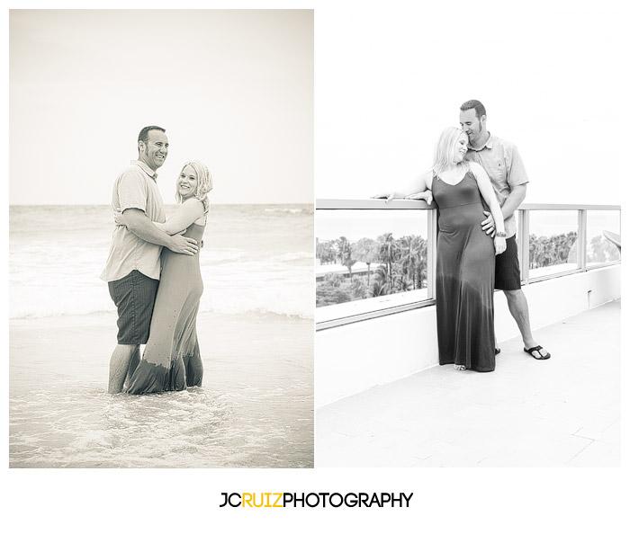 south beach engagement shoot