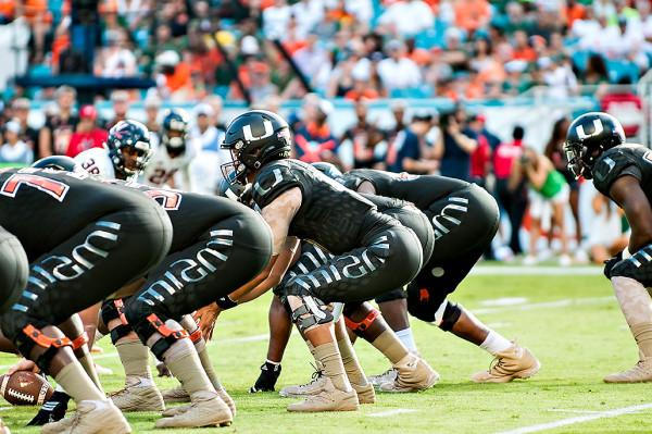 The all black Military appreciation uniforms for the Miami Hurricanes