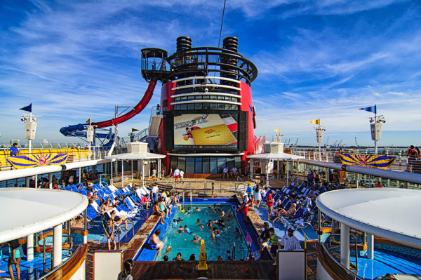 Pool views from the Disney Magic