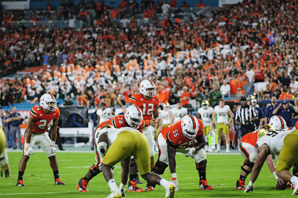 Malik Rosier (12) waits for the snap