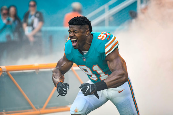 Miami Dolphins defensive end Cameron Wake (91)