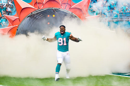 Miami Dolphins defensive end Cameron Wake (91)