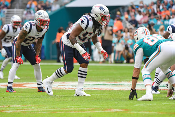 New England Patriots outside linebacker Dont'a Hightower (54)