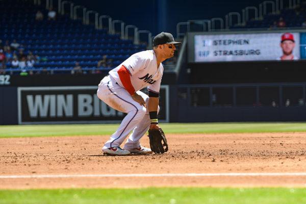 Miami Marlins third baseman Martin Prado #14