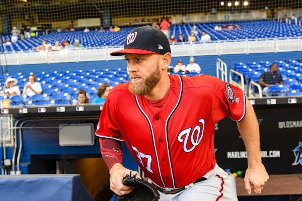 Washington Nationals starting pitcher Stephen Strasburg #37