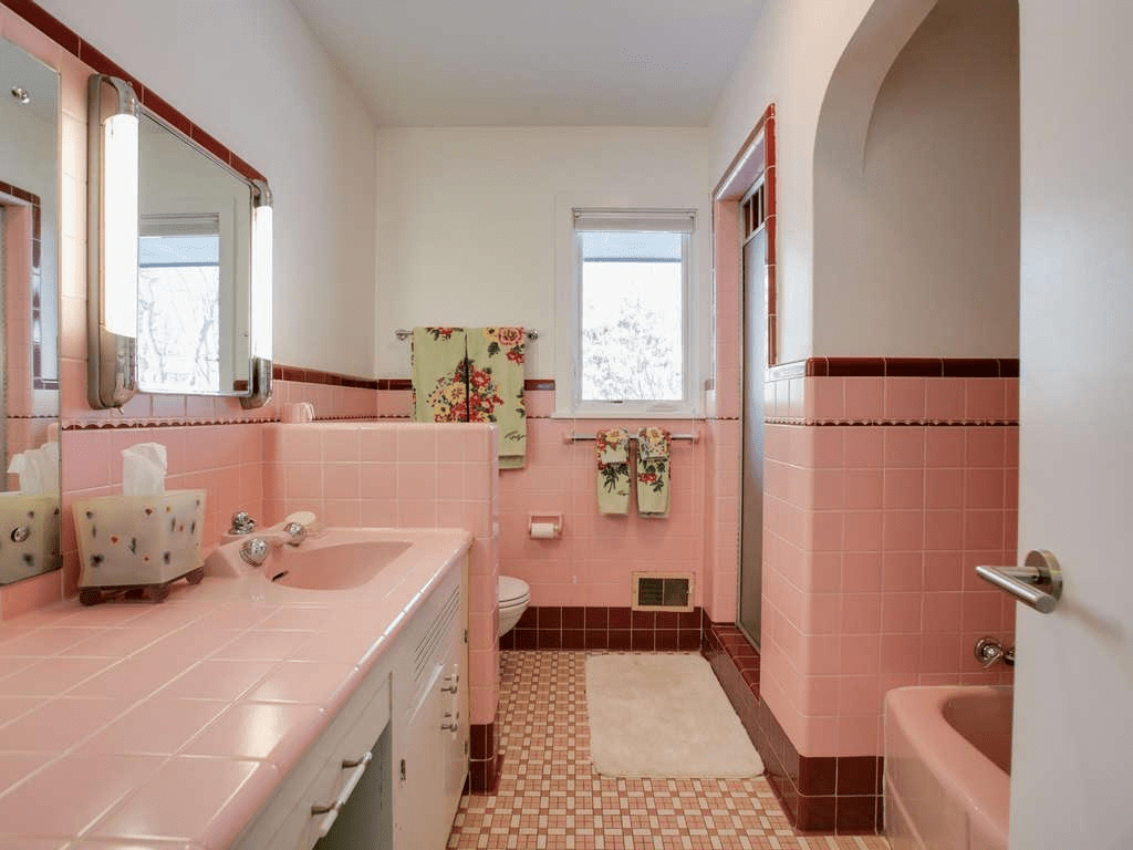 The Pink Bathroom A Trend Of The 1950 S J Carsten Remodeling