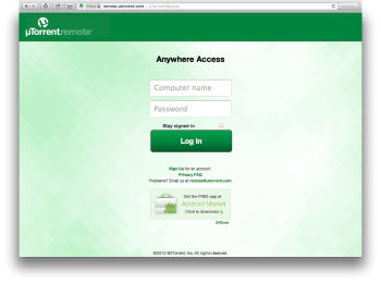 utorrent remote login