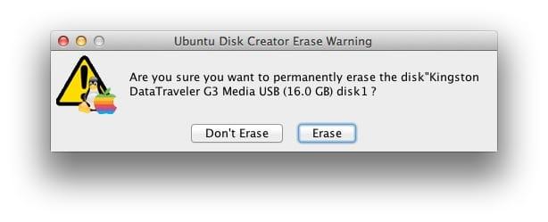 creer une cle USB bootable Linux sur mac 04