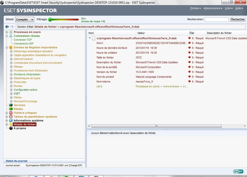 pilotes d'installation du script de connexion eset