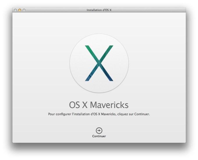installer Mavericks procedure installation mavericks