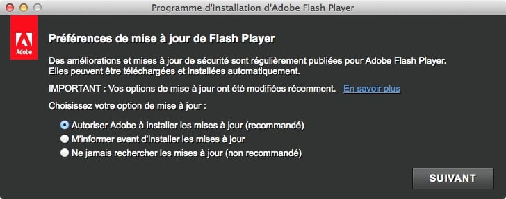 installer Flash pour Mavericks installation flash safari