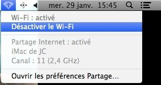 mode routeur barre de menus mac