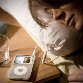 oreiller musical ipod
