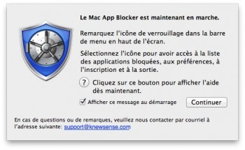Mac App Blocker en marche