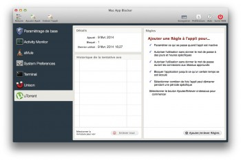 Mac App Blocker protection app mot de passe