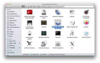 echange de fichiers bluetooth mac