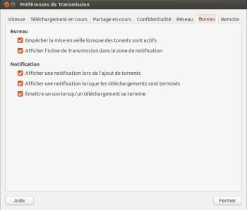 transmission ubuntu Bureau