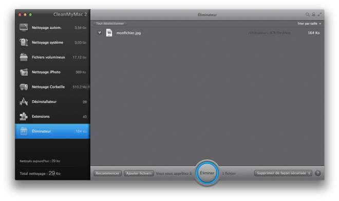suppression definitive de fichier mac