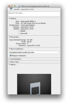 enregistrer audio m4a