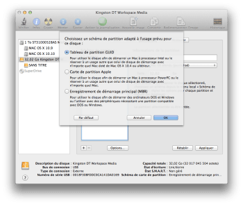 Yosemite bootable partition GUID