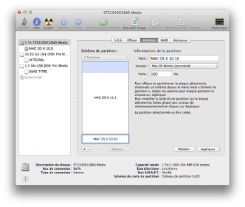 dual boot yosemite partition disque