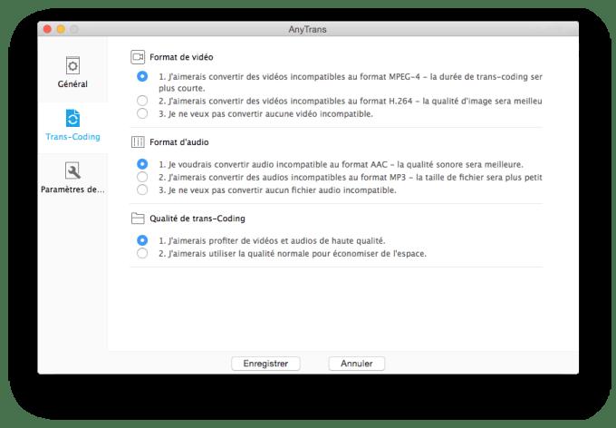 Transférer des éléments sur un iPhone sans iTunes anytrans conversions