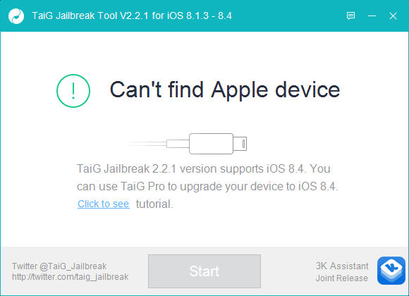 TaiG Jailbreak iOS 8.4 brancher iphone