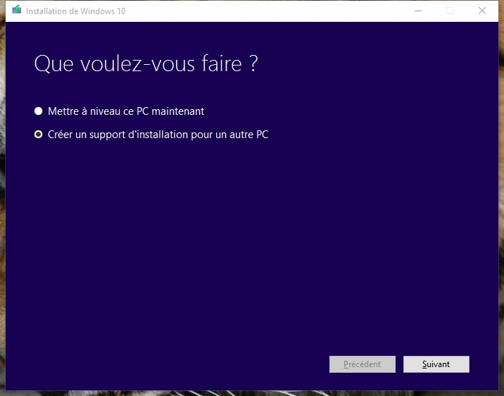 usb windows 10 creer un support dinstallation pour PC