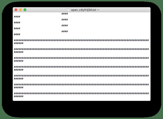 ASCII fichier texte mac