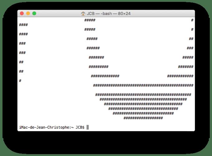 ASCII generer banniere sur mac