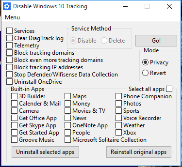 tracking windows 10 supprimer espions windows 10