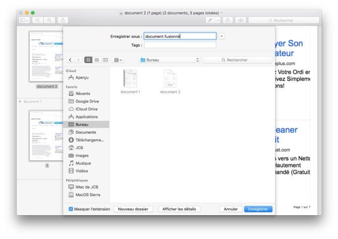 combiner 2 pdf sur mac nommer fichier