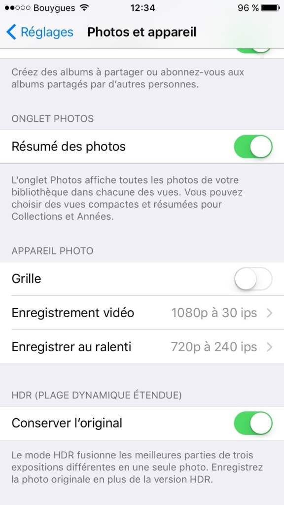 filmer en 4K avec un iphone enregistrement video