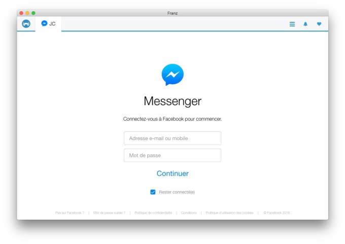 franz facebook messenger configuration