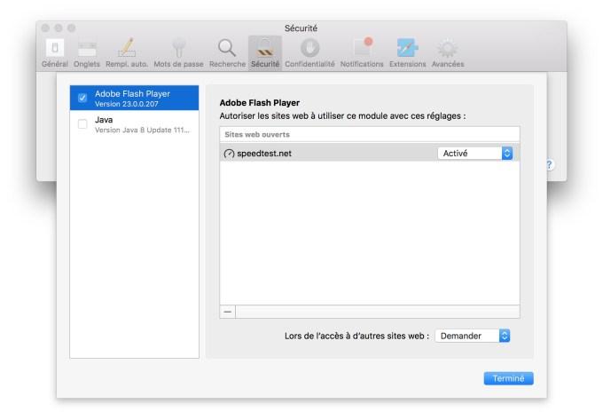 Installer Flash Player Mac OS Sierra speedtest