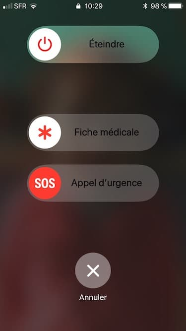 iPhone appel durgence sous iOS 11