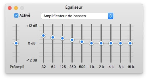 Equalizer audio Homepod iTunes